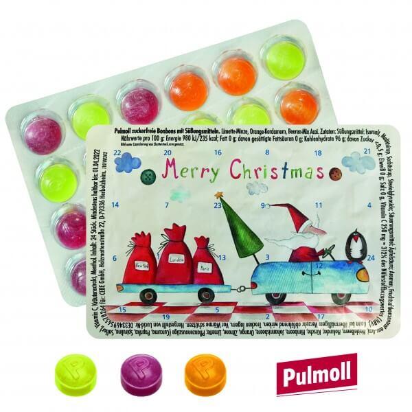 """Mini Adventskalender mit Pulmoll """"Weihnachtsmann on Tour"""""""