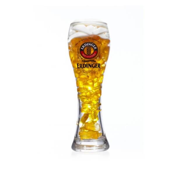 Weizenbierglas 0,3l mit Bierfruchtgummi