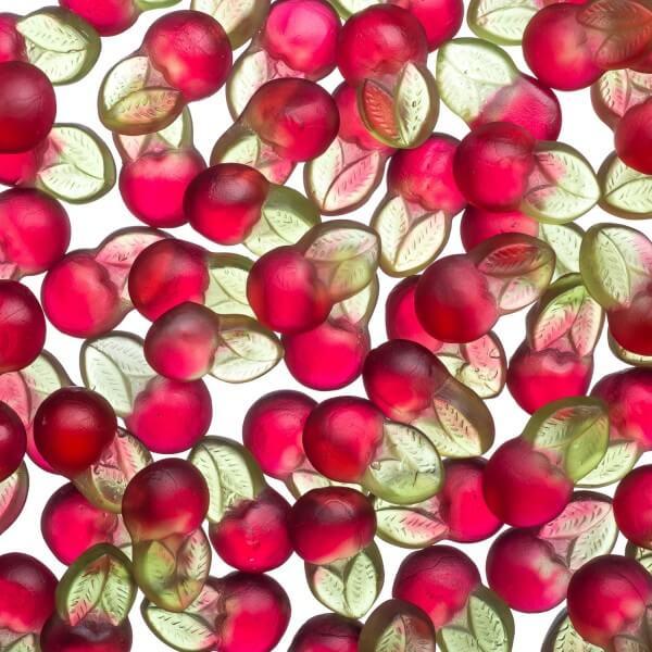 Zuckerfreies Fruchtgummi fruchtige Kirsche
