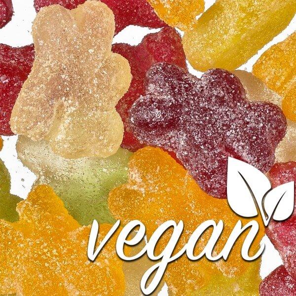Vegane Saure Gummibären ohne Gelatine