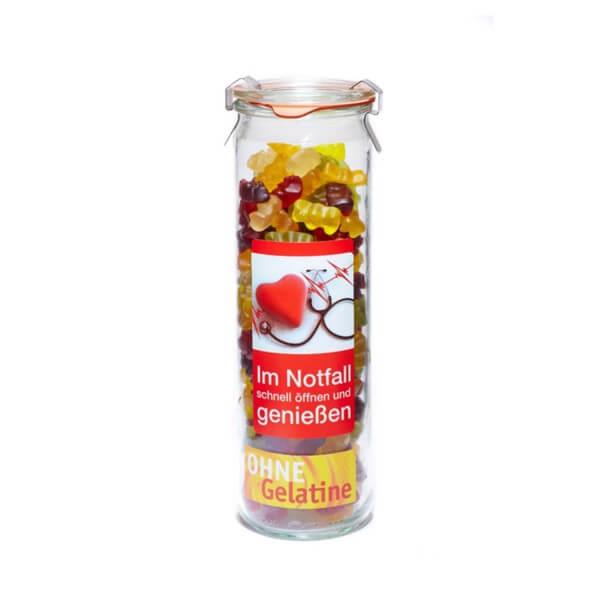 Süße Notfall Bären Veggie im Fruchtgummi Vorratsglas