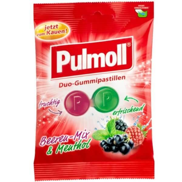Pulmoll Duo Fruchtgummi Beerenmix und Menthol