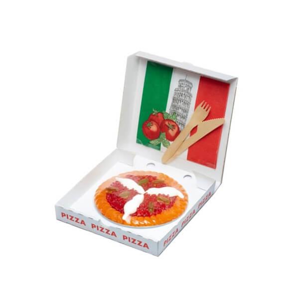 Fruchtgummi Pizza Margherita in der Größe mittel