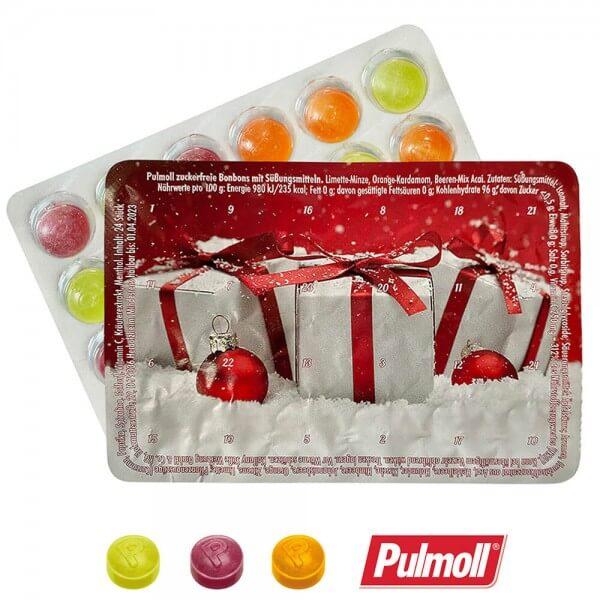 """Mini Adventskalender mit Pulmoll """"Geschenke im Schnee"""""""