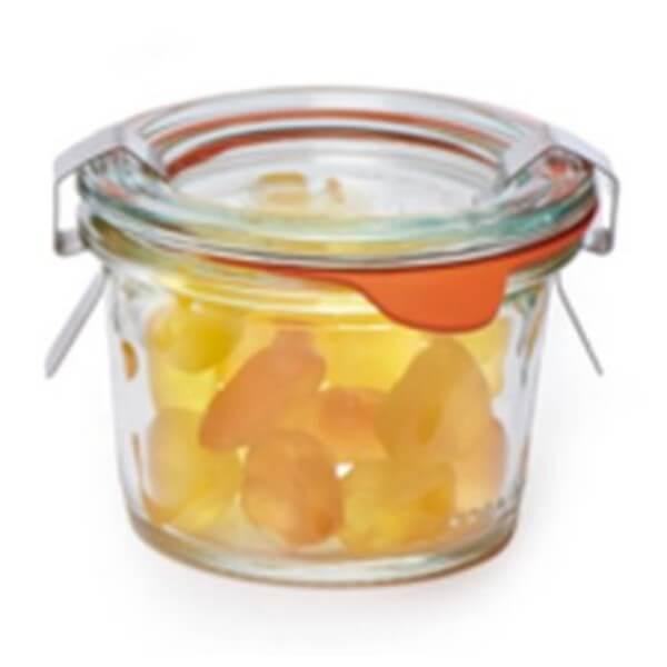 Weckglas Mini Proseccoherzen-Fruchtgummi