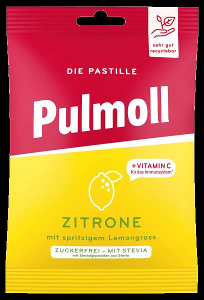 Pulmoll Beutel Zitrone mit spritzigem Lemongrass zuckerfrei