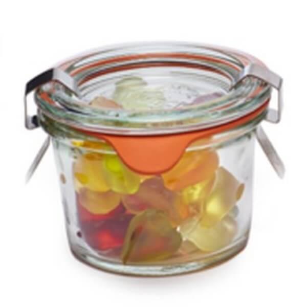 Weckglas Mini Bunte Herzen-Fruchtgummi