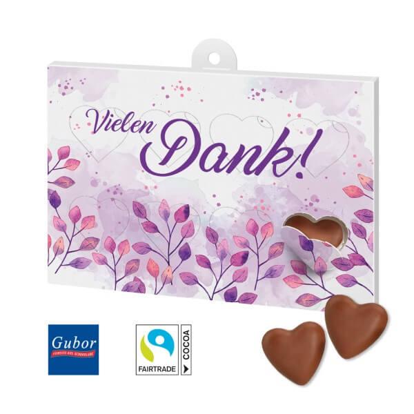 Schokoladengeschenk Herzenssache Motiv Danke 2