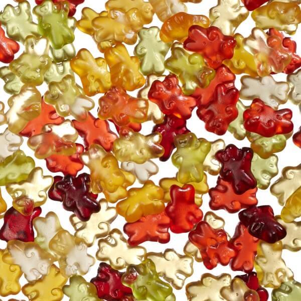 Minibärchen aus Fruchtgummi mit 10 % Fruchtsaft