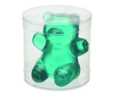 Großer 3D Gummibär sitzend mit Eisbonbons Geschmack