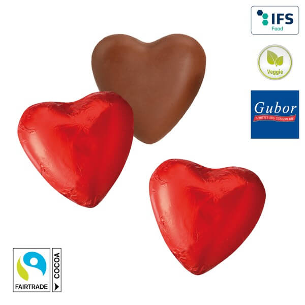 Rote Schokoladenherzen 150 Stück