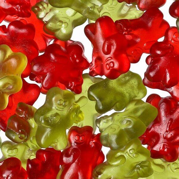 Erdbär und Rhabarbär Gummibären mit 10 % Fruchtsaft