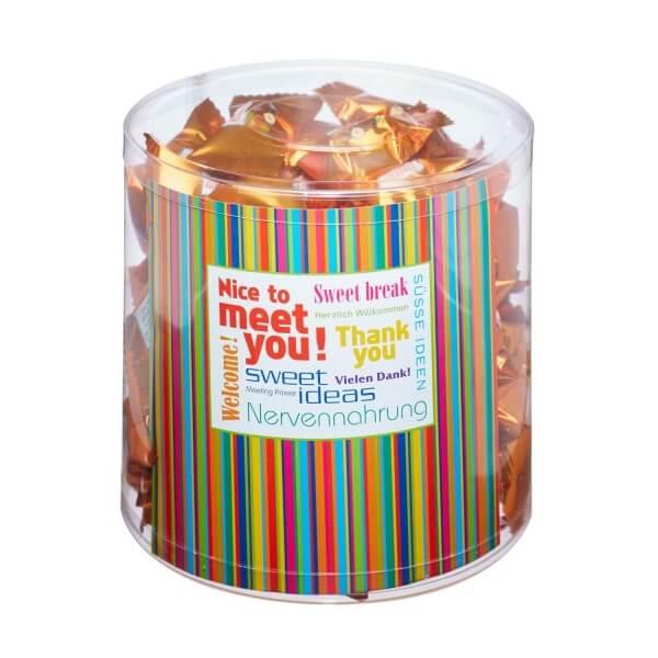 6 Stück Meeting Klarsichtbox MAXI gefüllt mit Ferrero Küsschen Flowpacks