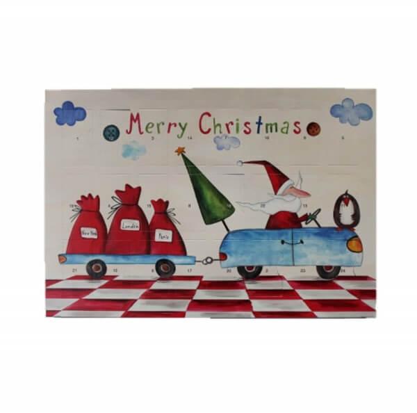 Fruchtgummi Adventskalender Premium Motiv Merry Christmas