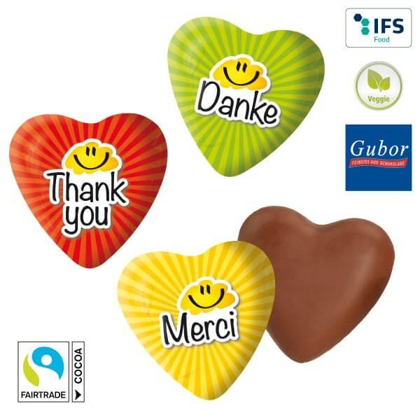 150 Stück Schokoladenherz Danke