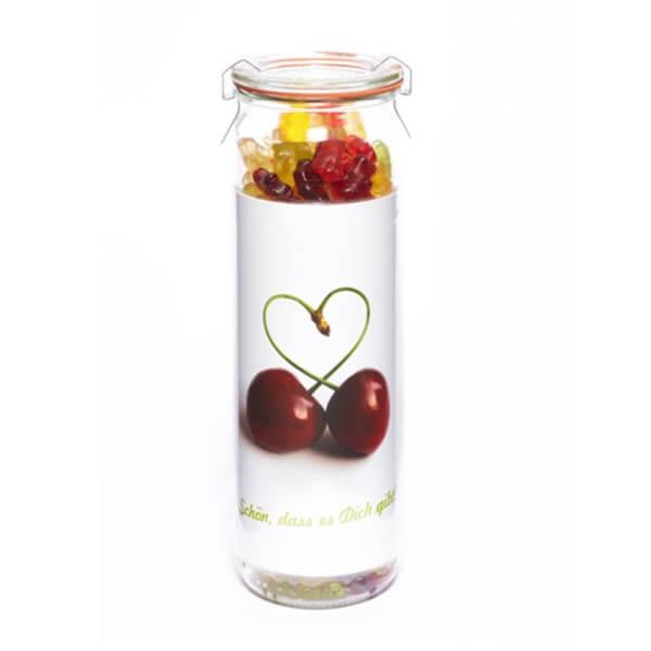Süßes Fruchtgummi Vorratsglas Schön, dass es dich gibt