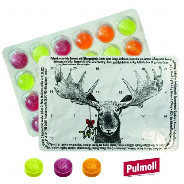 """Mini Adventskalender mit Pulmoll """"Rentier & Mistelzweig"""""""