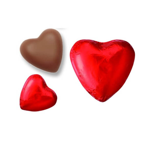 rote schokoladenherzen