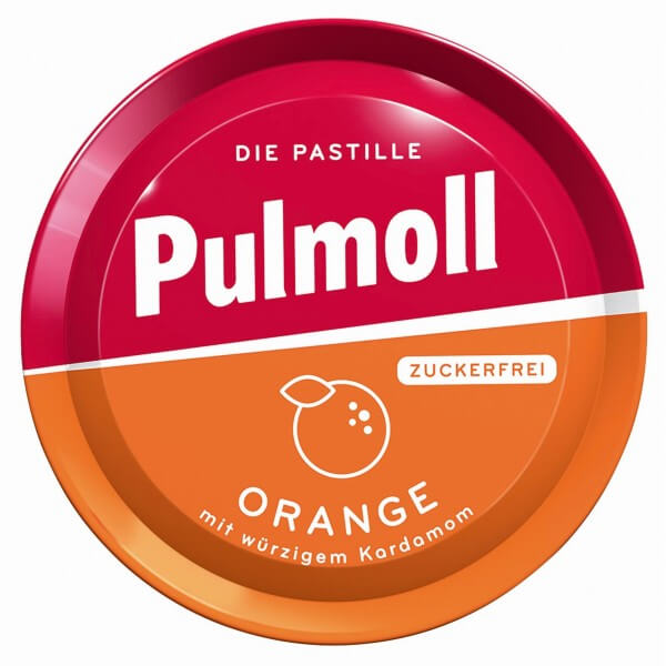 Pulmoll Orange mit würzigem Kardamom zuckerfrei
