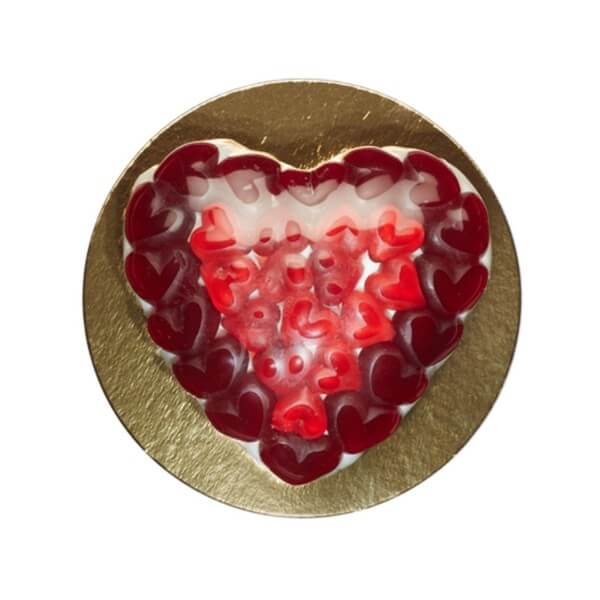 Fruchtgummi Torte Liebesglück