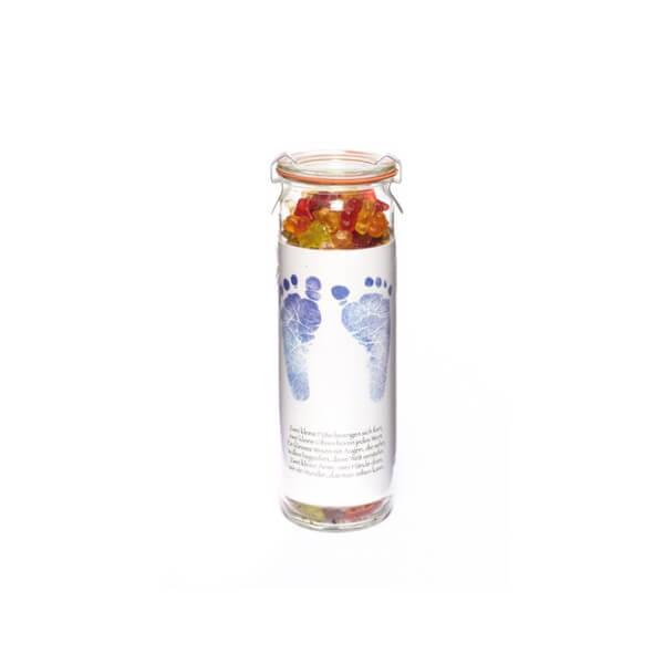 Süßes Fruchtgummi Vorratsglas Baby
