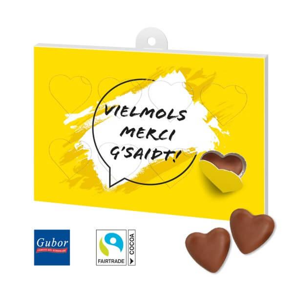 Schokoladengeschenk Herzenssache Motiv Danke 3
