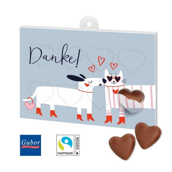 Schokoladengeschenk Herzenssache Motiv Danke 1