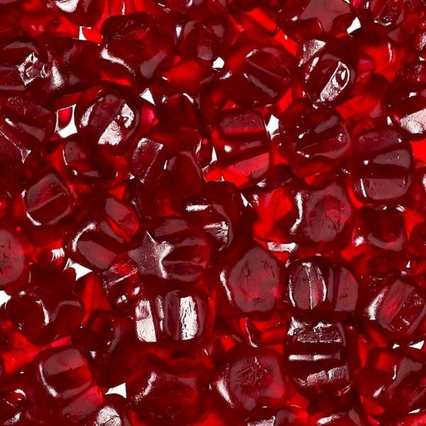 Rote Glühweinsterne Fruchtgummis