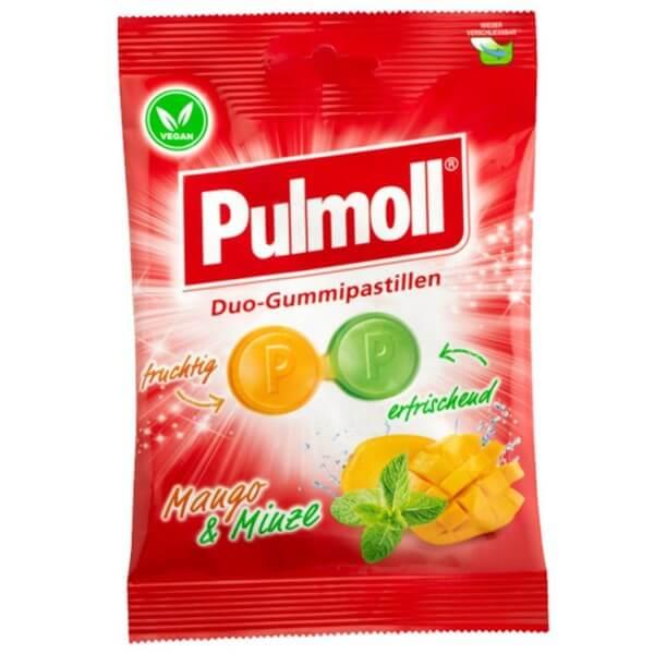 Pulmoll Duo Fruchtgummi Mango und Minze vegan
